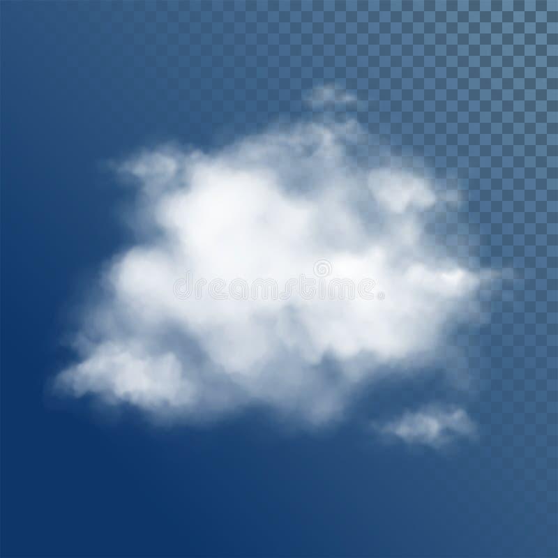 Transparante Witte Vectorwolken vector illustratie