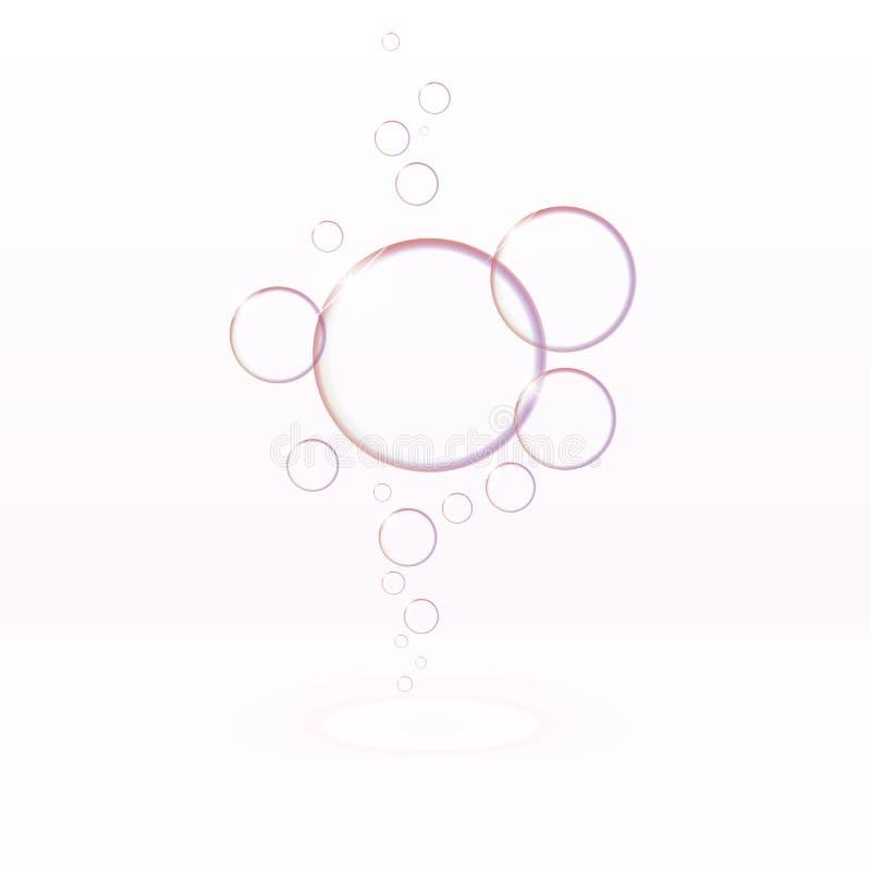 Transparante zeepbels, eps10-vector vector illustratie