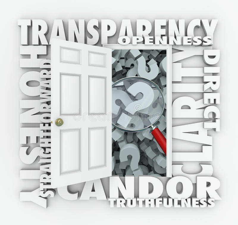 Free Transparency Door Openness Clarity Candor Straightforward Royalty Free Stock Photos - 41802048