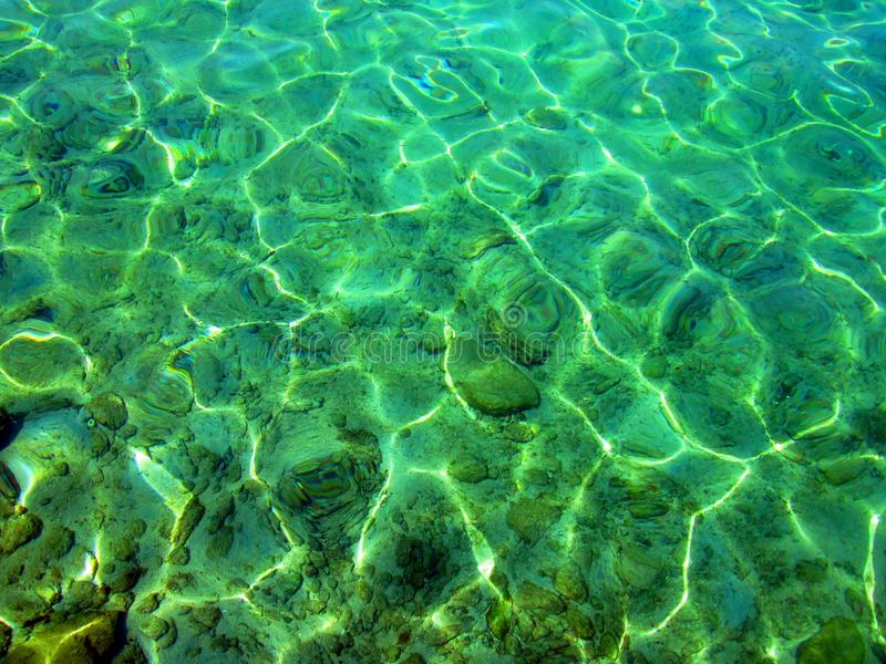 Transparency sea water. stock images