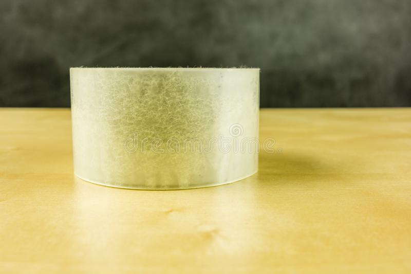 Transparent adhesive tape. Transparent adhesive tape for packaging royalty free stock images