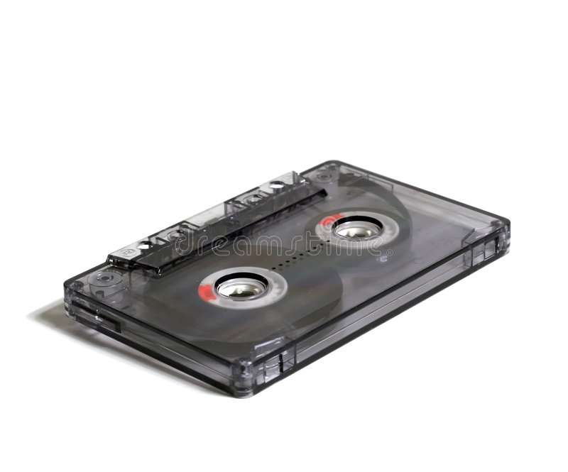 Download Transparent audiocassette stock image. Image of black - 4917235