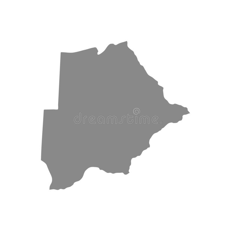 Transparent - ausführliche graue Karte des Hochs von Botswana Vektorabbildung ENV 10 vektor abbildung