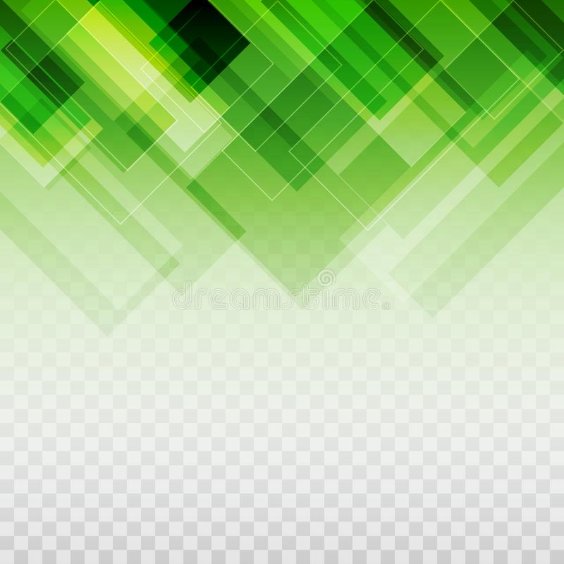 Gradated Green Rectangles Pattern Transparent Background royalty free illustration