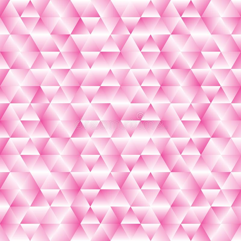 Geometric Pink Triangles Pattern Background with Mosaic Effect stock illustration