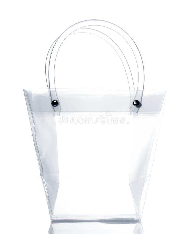 Transparent bag royalty free stock photo