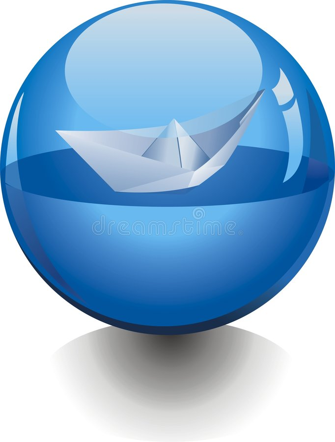 Transparent ball stock photo