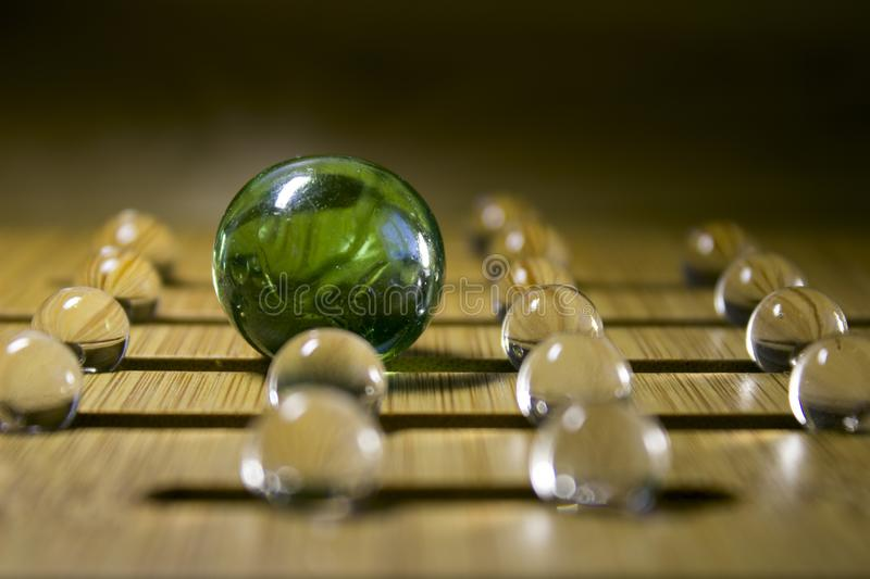 Transparent balls. Abstraction. royalty free stock photography