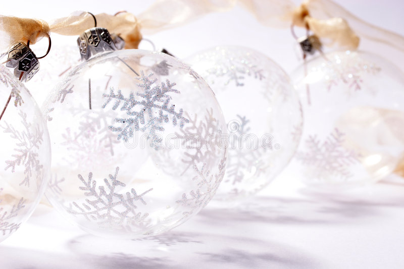 Transparent baubles royalty free stock image