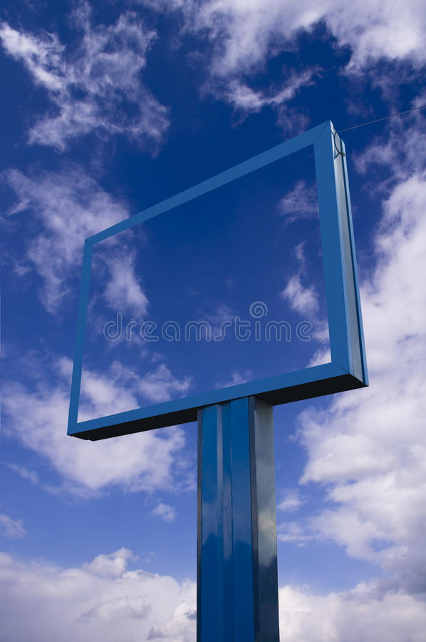 Transparent billboard royalty free stock photography