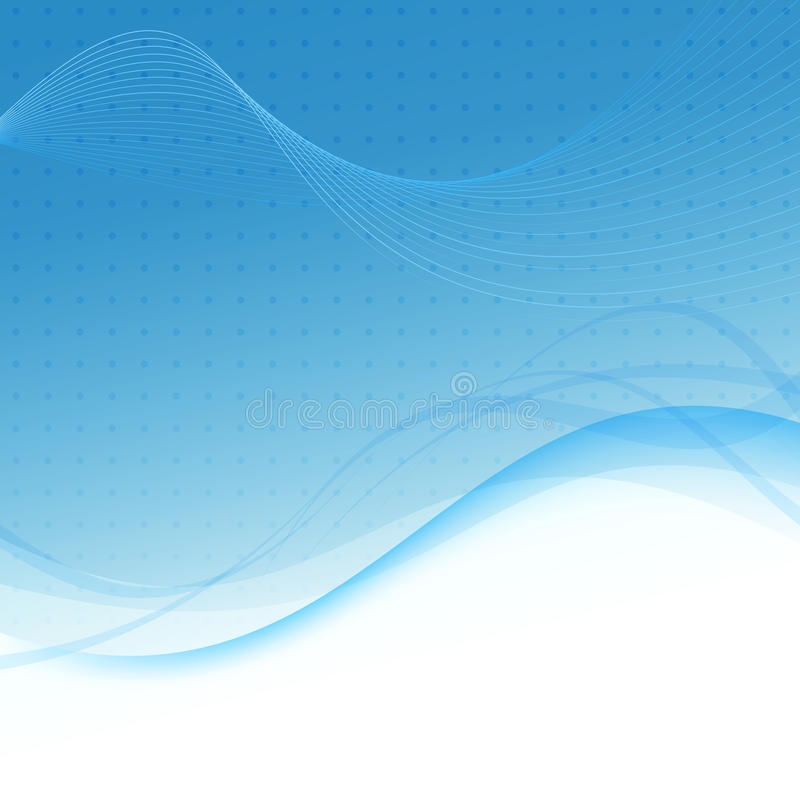 Transparent blue abstract background - waves. Clip-art royalty free illustration