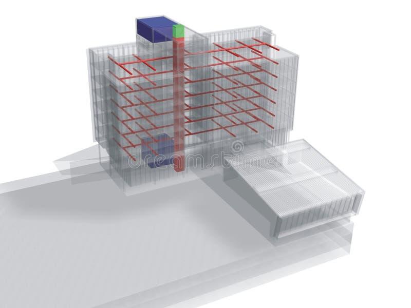Transparent building royalty free illustration