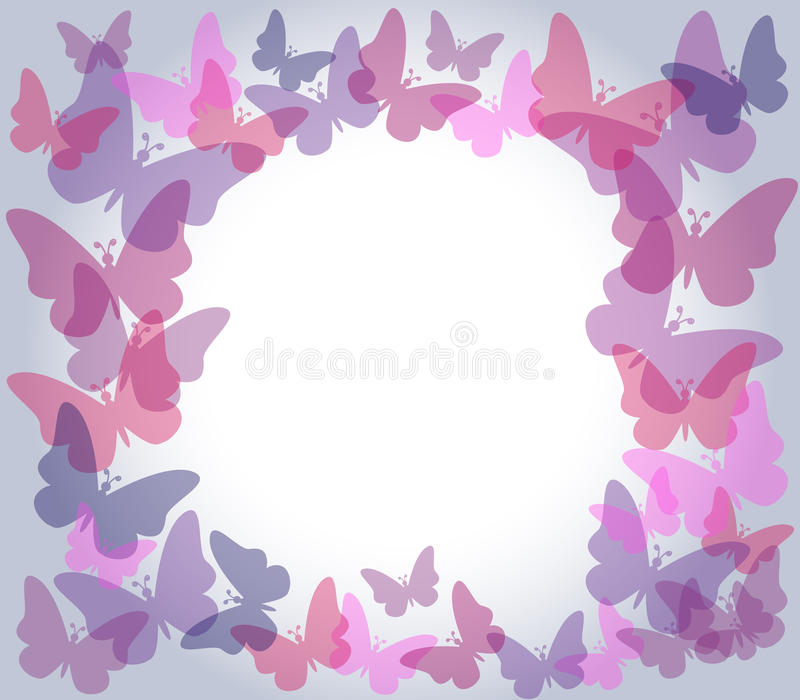 Download Transparent Butterflies Frame Stock Vector - Image: 25375333