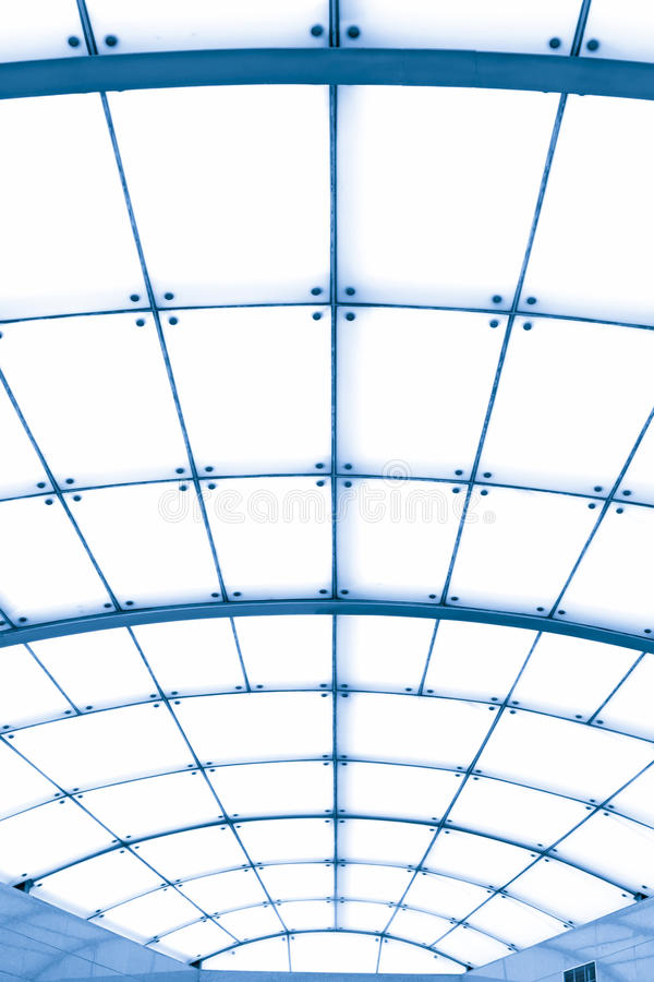 Transparent ceiling. In the hall royalty free stock image