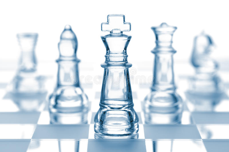 Transparent Chess Team Stock Images