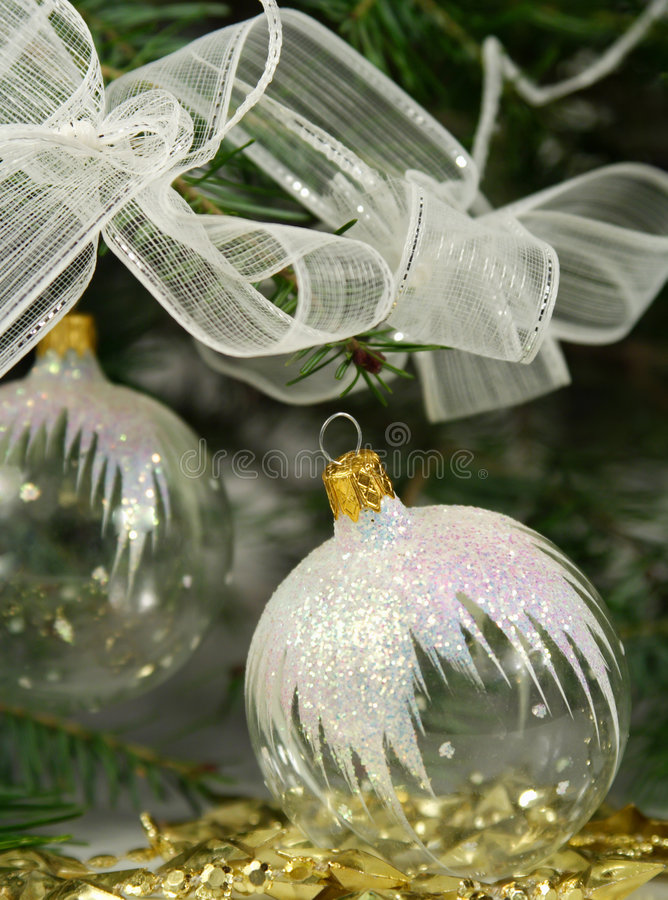 Download Transparent Christmas Ornaments Stock Photo - Image of holly, glass: 3619038