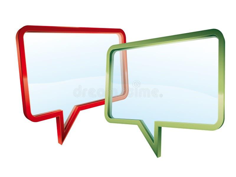 Transparent conversation royalty free stock photo