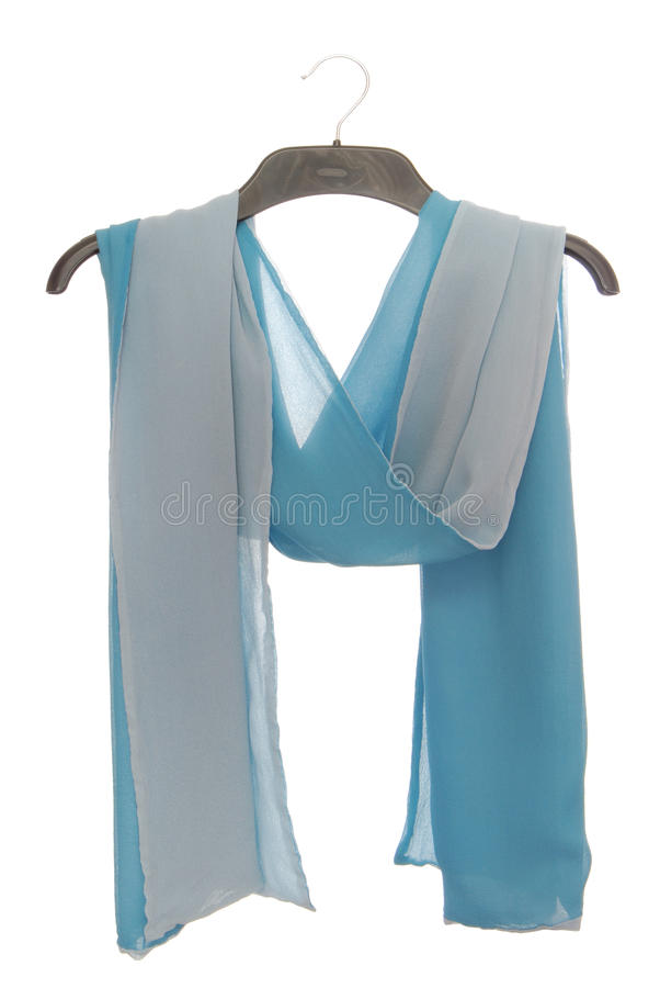 A transparent crepe de Chine scarf stock images