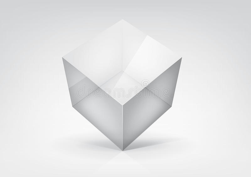 Transparent Cube Stock Images