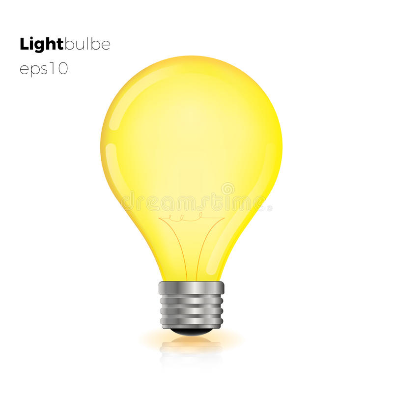Transparent d'isolement créatif d'ampoule illustration stock