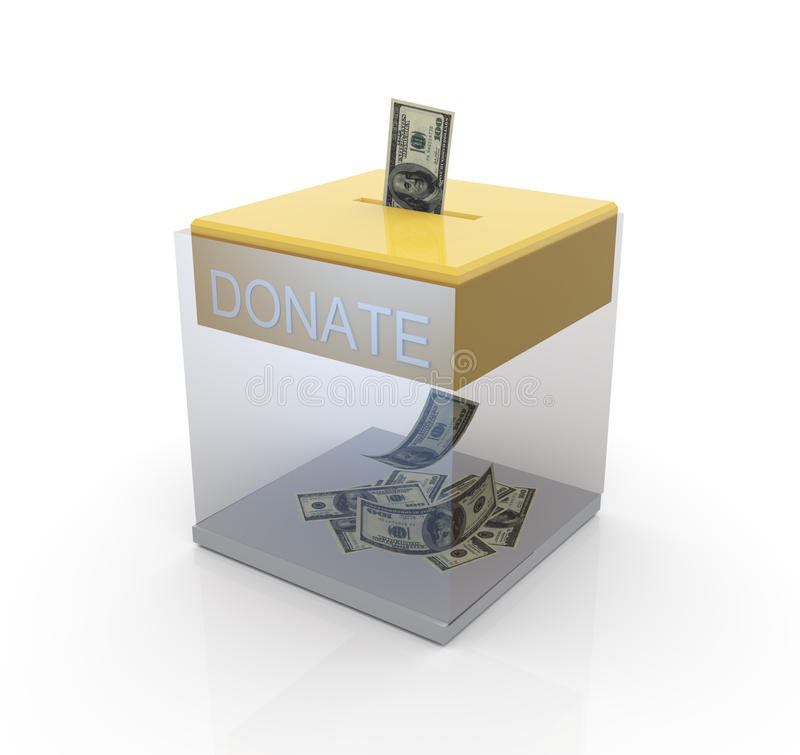 Download Transparent donation box stock illustration. Image of support - 19321072