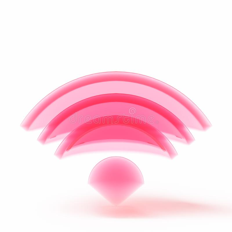 Transparent electric radio wave icon royalty free stock photos
