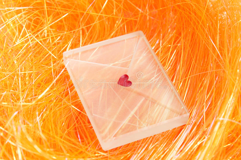 Transparent envelope royalty free stock images