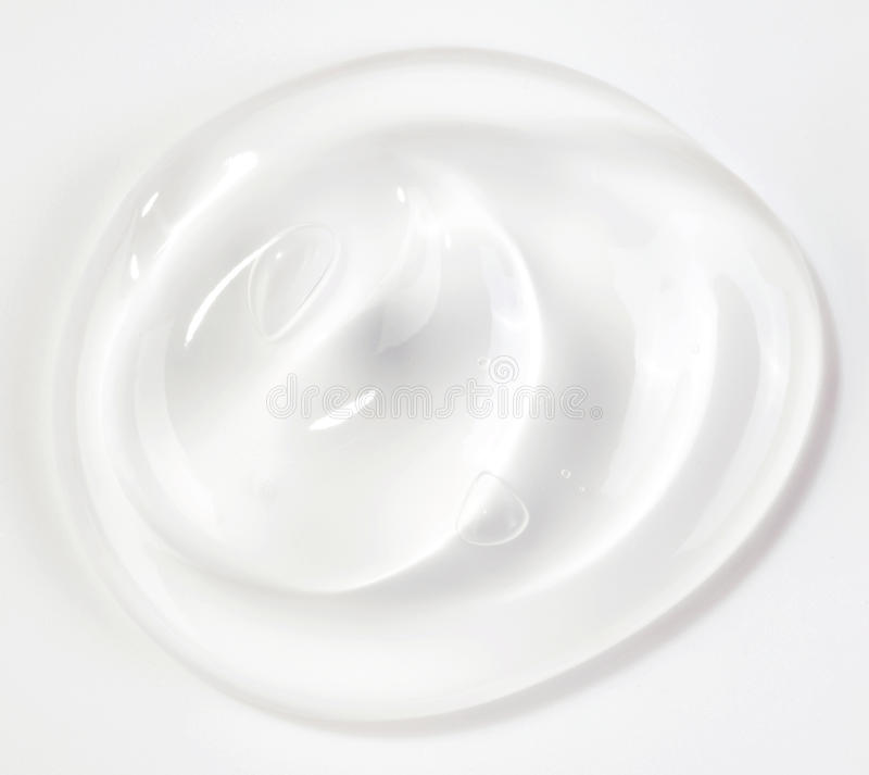Transparent gel. Over white stock image