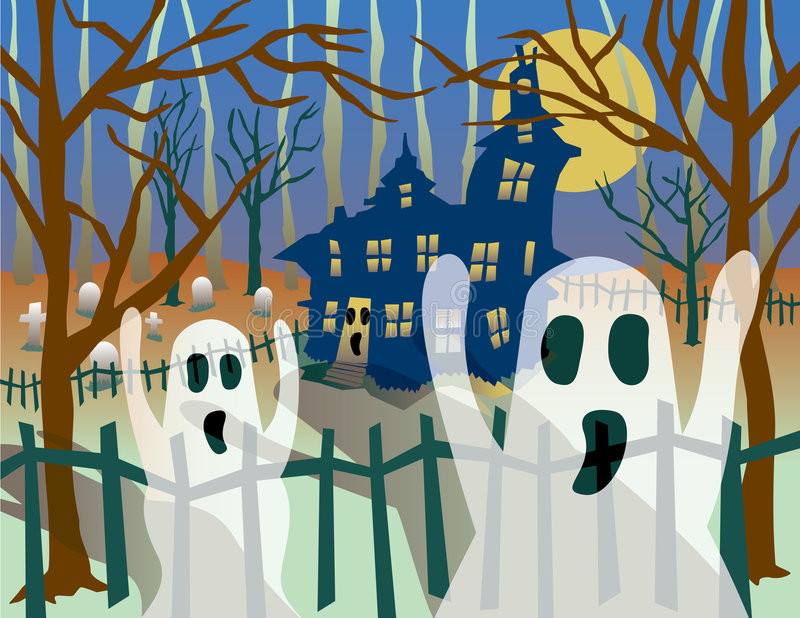 Transparent Ghosts royalty free illustration