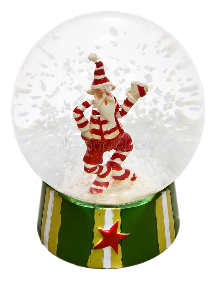 Download Transparent Glass Ball With Santa Claus And Snow Stock Image - Image of transparent, claus: 11683015