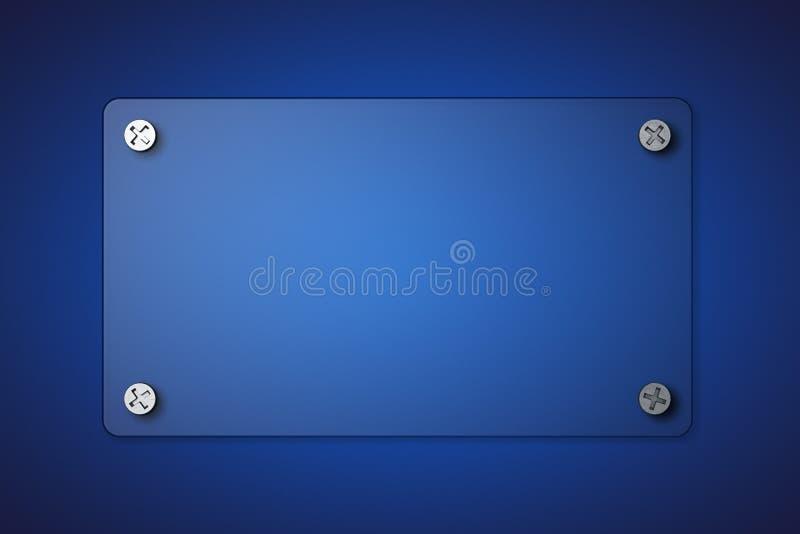 Download Transparent glass banner stock illustration. Image of illustration - 33461906