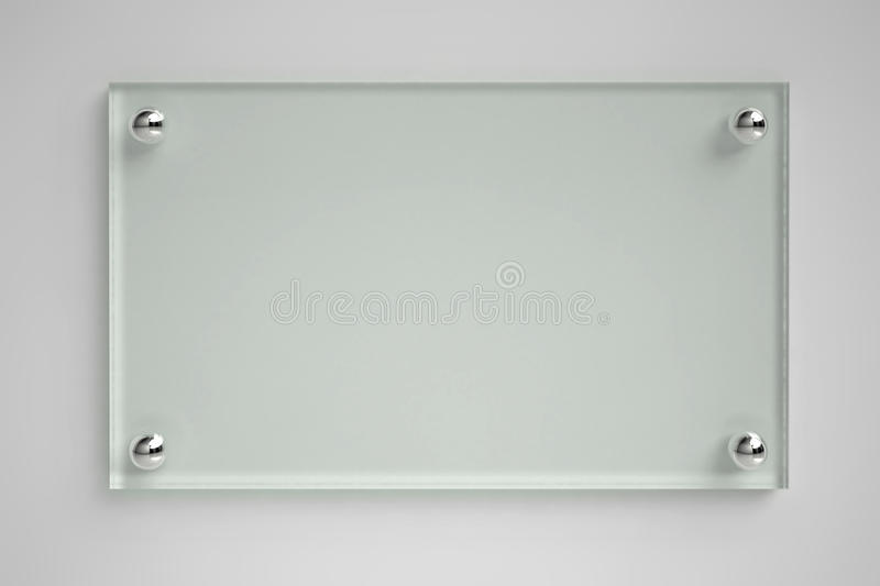 Transparent glass board stock illustration