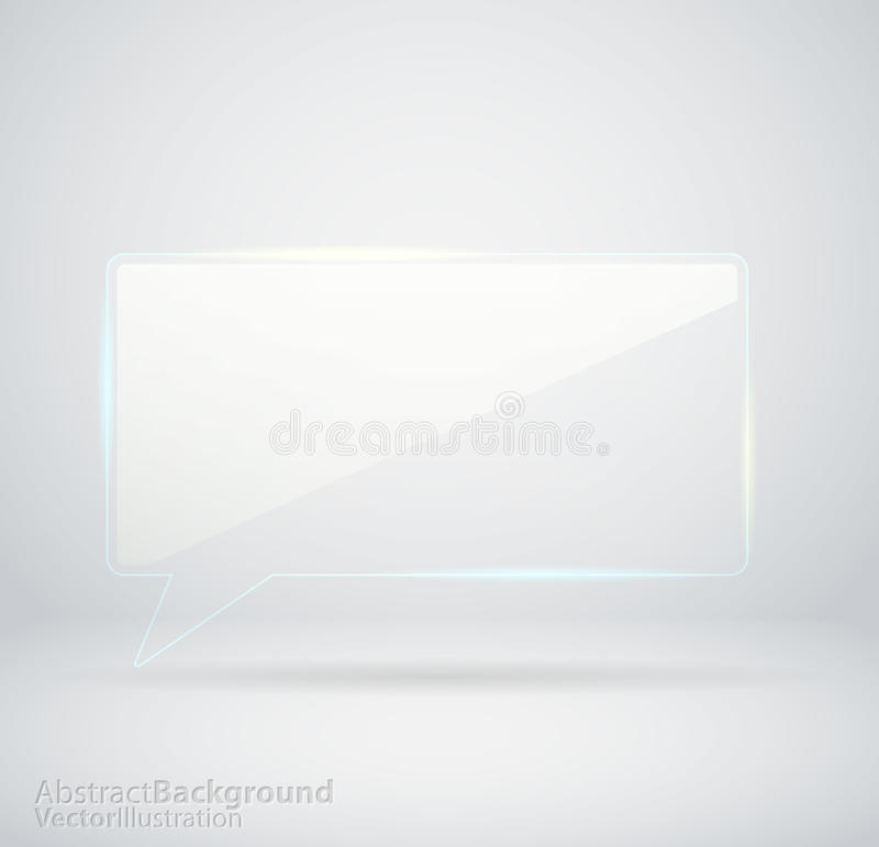 Transparent Glass Chat Royalty Free Stock Photo