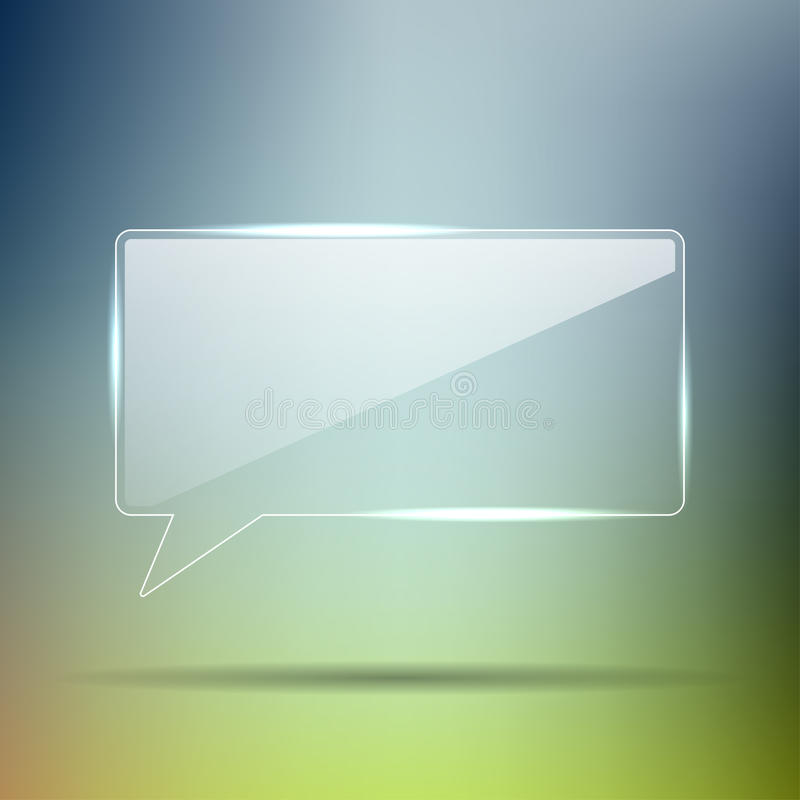 Download Transparent Glass chat box stock vector. Illustration of bright - 26159680