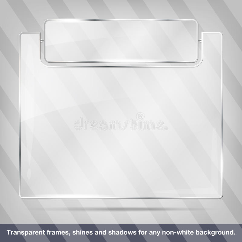 Transparent glass frame vector illustration
