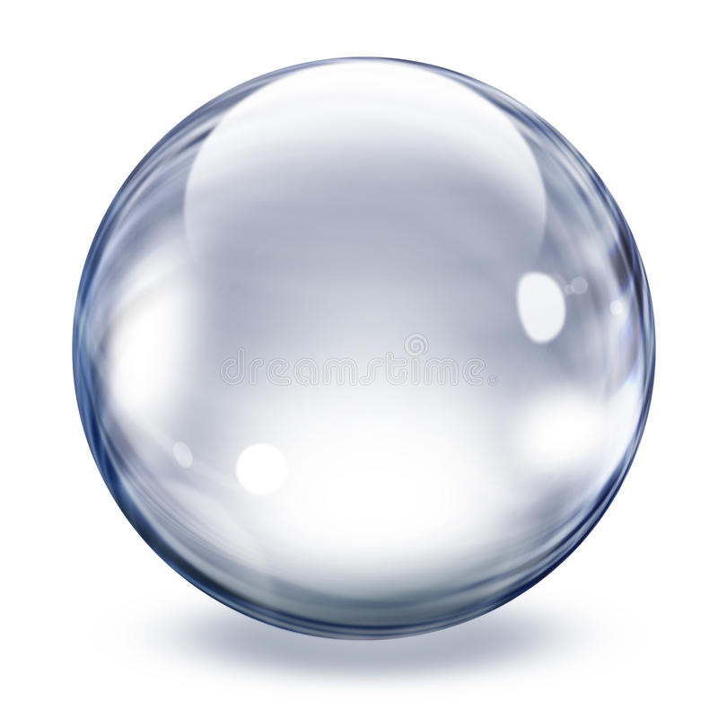 Download Transparent glass sphere stock illustration. Image of reflection - 19537533