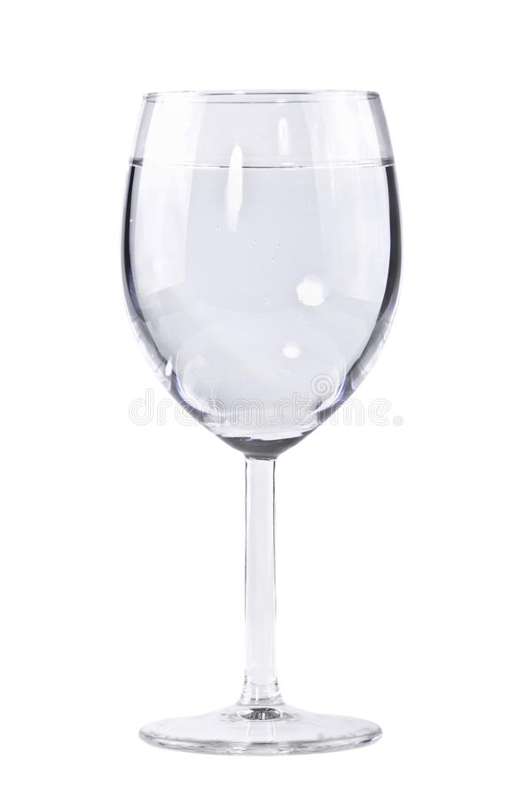 Transparent Glass Of Water On A Leg Stock Image