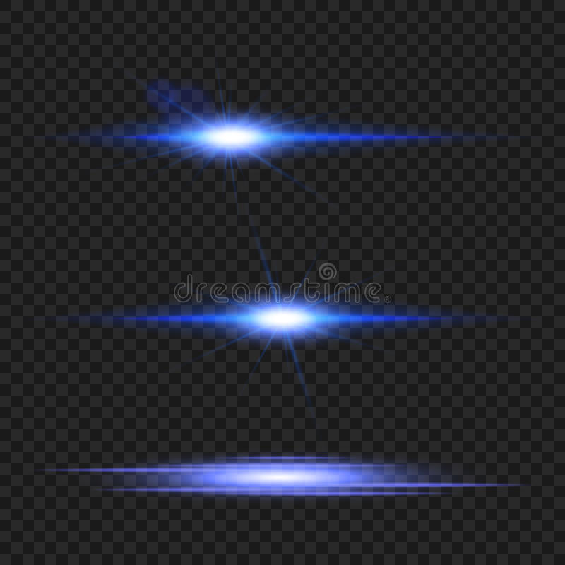 Transparent glow light effect set. Blue lens flare. Abstract vector illustration stock illustration