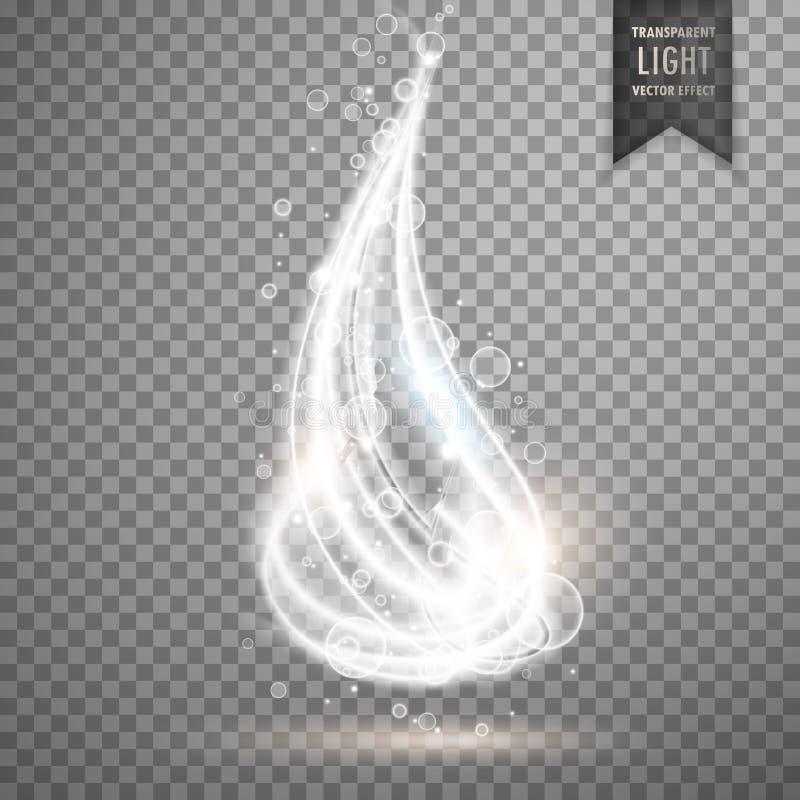 Transparent glowing light vector background stock illustration