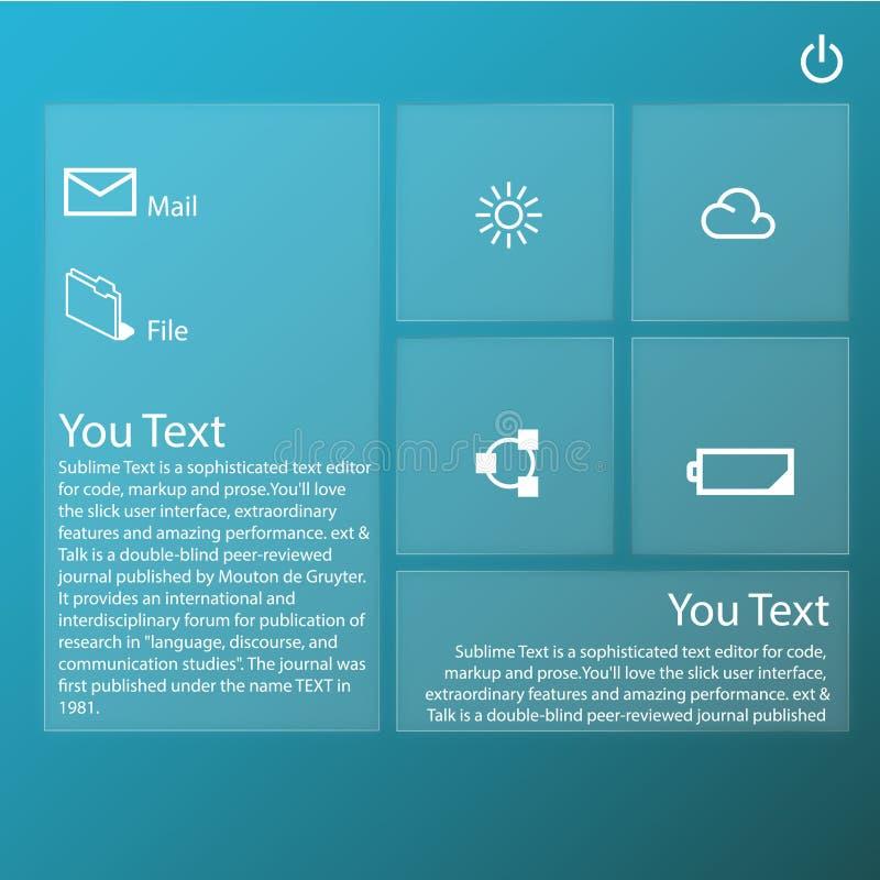 Transparent Graphic Web Design technology stock illustration