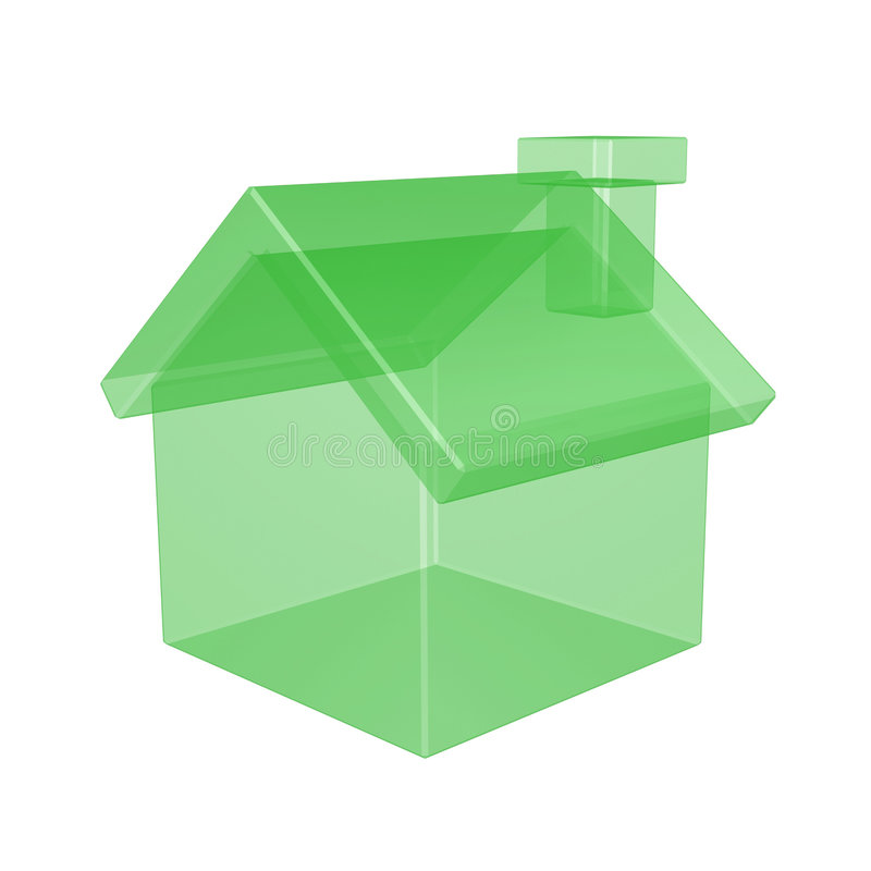 Transparent house royalty free illustration