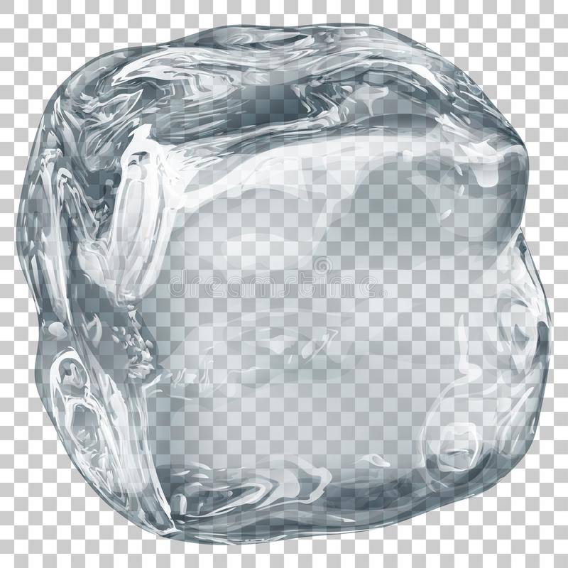 Transparent ice cube royalty free illustration