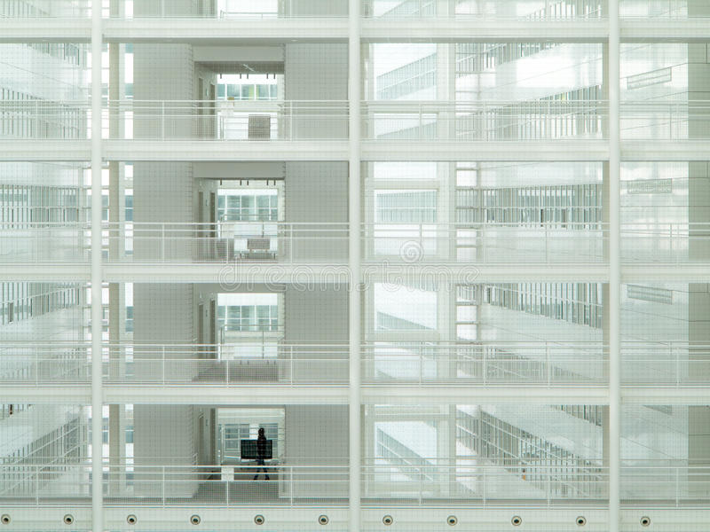 Transparent Ice Palace. City Hall Offices, ultra modern building at The Hague, Netherlands royalty free stock photography