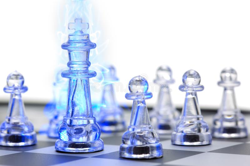 King of chess, Leader and teamwork for business concept royalty free stock image