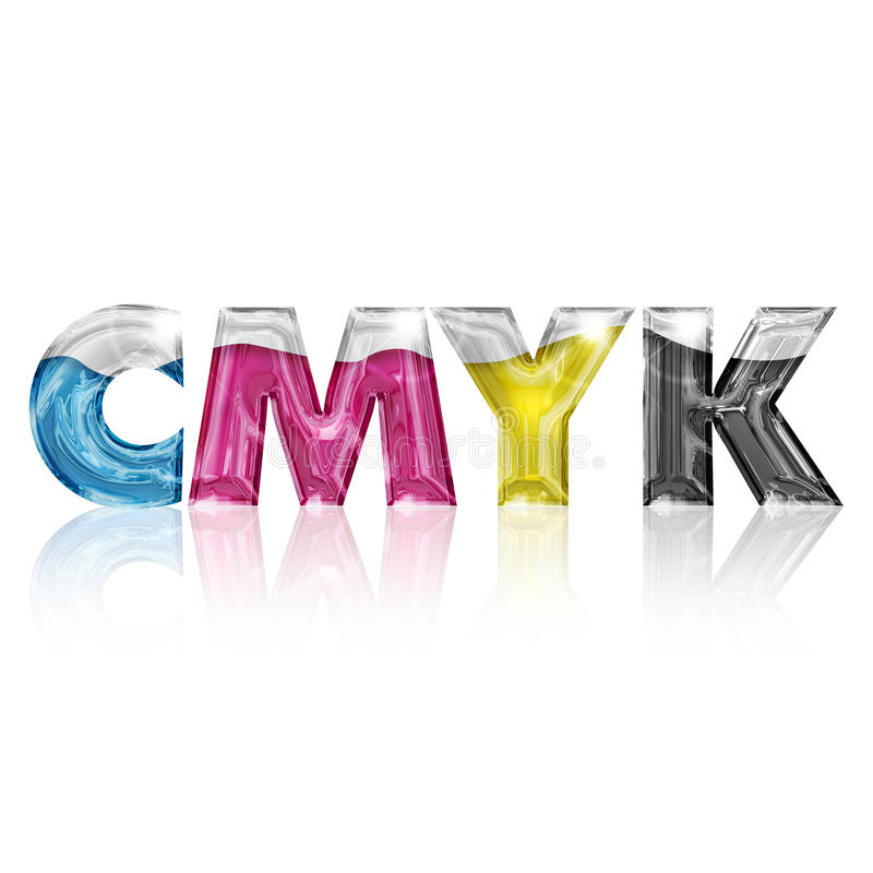 Transparent Letters Cmyk Stock Photography Image 31805402