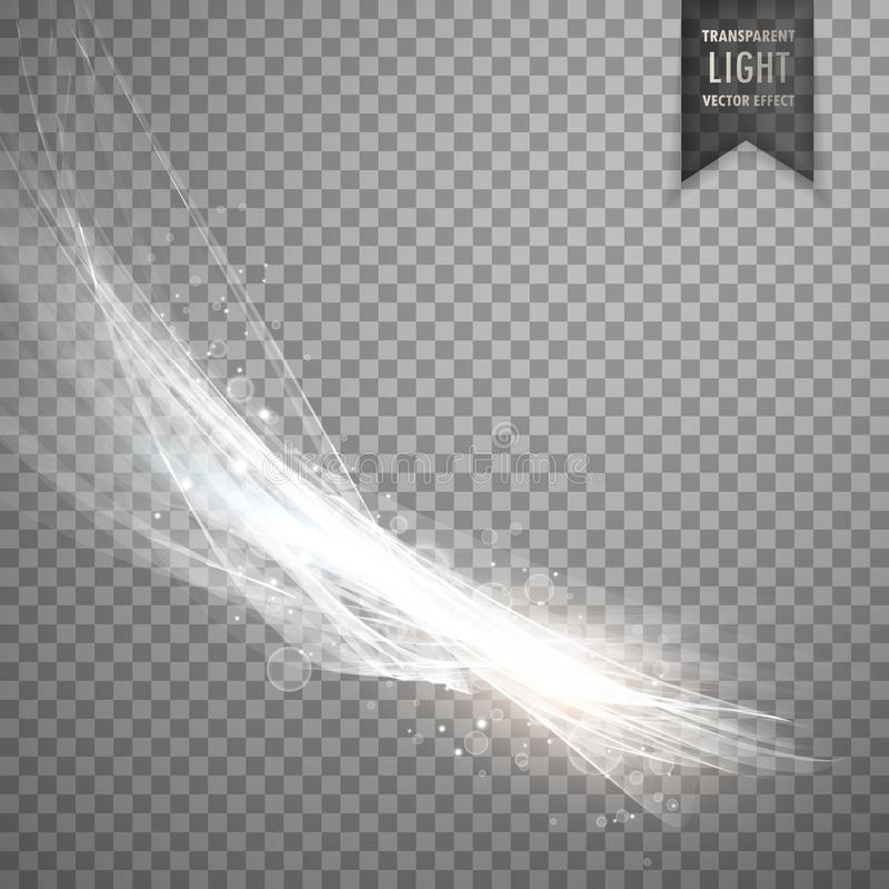 Transparent light effect background in white color stock illustration