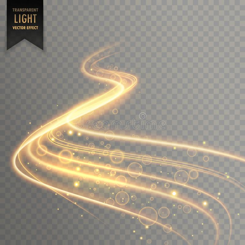 Transparent light effect trail background vector illustration