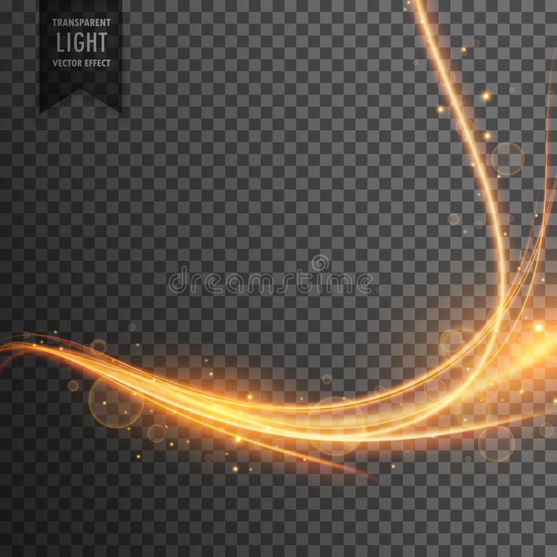 Transparent light effect trail with sparkles vector illustration