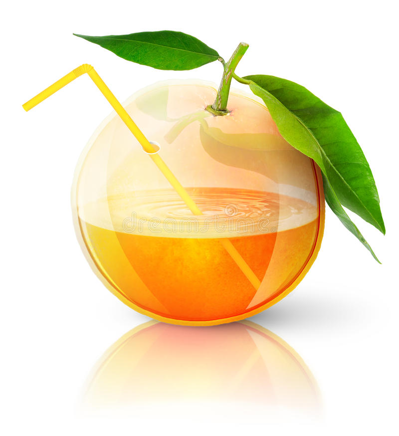 Free Transparent Orange With Juice Royalty Free Stock Photography - 19348207