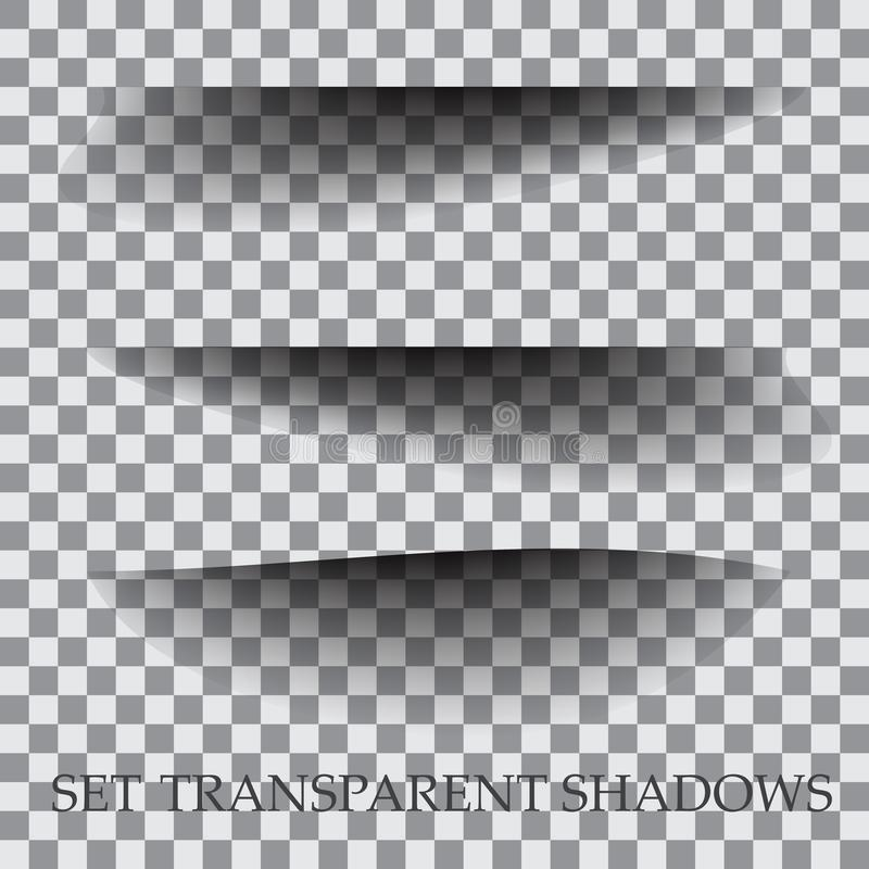 Transparent paper with realistic shadow effect is selected. royalty free illustration